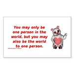 One Person Rectangle Sticker