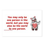 One Person Postcards (Package of 8)