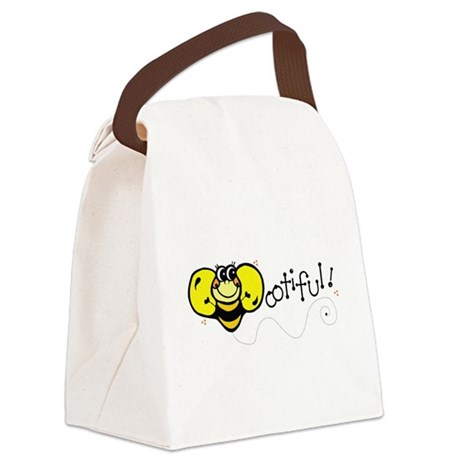 bee ootiful.png Canvas Lunch Bag