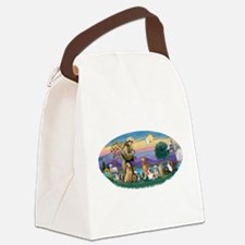St. Fran (Ov)-Dogs-Cats-Hrs Canvas Lunch Bag