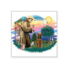 """St Francis #2/ Airedale Square Sticker 3"""" x 3"""""""