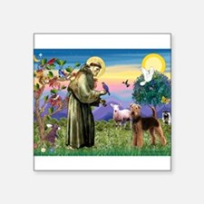 "Cool Prayer of st francis of assisi Square Sticker 3"" x 3"""