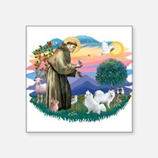St.Francis #2/ Am Eskimo (2) Square Sticker 3&quot