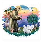 St.Francis #2/ Am Eskimo (2) Square Car Magnet 3&q