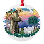 St.Francis #2/ Am Eskimo (2) Round Ornament