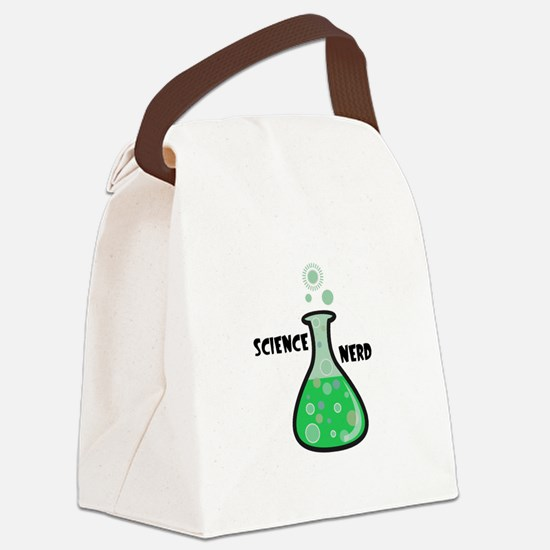 science nerd beaker.jpg Canvas Lunch Bag