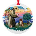 St.Francis #2/ Australian She Round Ornament