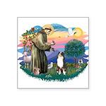 St.Francis #2/ Aus Shep (tri) Square Sticker 3&quo
