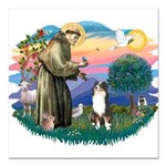 St.Francis #2/ Aus Shep (tri) Square Car Magnet 3&