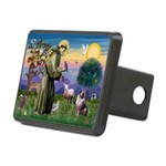 St Francis & Aussie Rectangular Hitch Cover