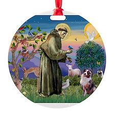 St Francis & Aussie Ornament