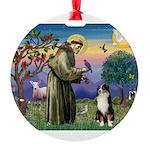 S, Fr, #2/ Australian Shep 2 Round Ornament