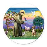 St Francis/Aussie (#5) Round Car Magnet