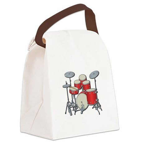 drum set copy.jpg Canvas Lunch Bag