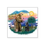 "St.Francis #2/ Belgian Shep Square Sticker 3"""