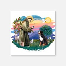 "St Francis #2/ BMD Square Sticker 3"" x 3"""