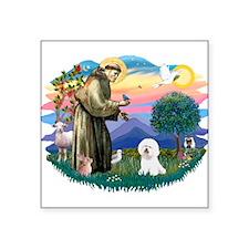 "St Francis #2/ Bichon #1 Square Sticker 3"" x 3"""