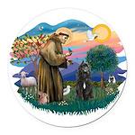St Francis #2/ Bouvier Round Car Magnet