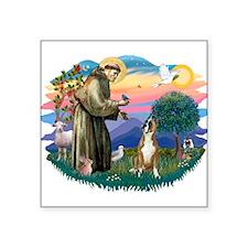 St.Francis #2/ Boxer (crop.) Square Sticker 3&quot