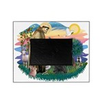 St.Francis #2/ Briard (blk) Picture Frame