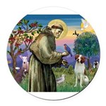 St. Fran. / Brittany Round Car Magnet