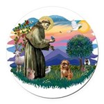 St Francis #2/ Brussels G Round Car Magnet