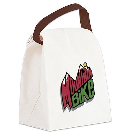 mountain bike graphic copy.jpg Canvas Lunch Bag