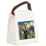 St Francis / Bullmastiff Canvas Lunch Bag