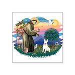 "St.Francis #2/ Bull T #4 Square Sticker 3"" x"