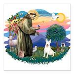 "St.Francis #2/ Bull T #4 Square Car Magnet 3"""