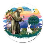 St.Francis #2/ Bull T #4 Round Car Magnet