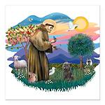 St Francis #2/ Cairn (br) Square Car Magnet 3