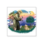 St Francis #2/ Cairn Ter Square Sticker 3