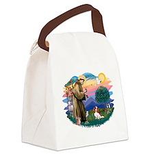 St.Francis #2/ Cavalier (bl) Canvas Lunch Bag