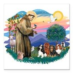 St Francis #2/ Cavaliers Square Car Magnet 3