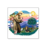 St.Francis #2/Cavalier (BT) Square Sticker 3""