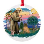 St.Francis #2/ Shar Pei (#3) Round Ornament
