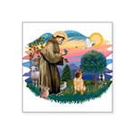 St.Francis #2/ Shar Pei (#2) Square Sticker 3&quot