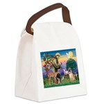 St Francis/Shar Pei #5 Canvas Lunch Bag