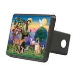 St Francis/Shar Pei #5 Rectangular Hitch Cover