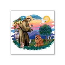 "St Francis #2/ Chow (R) Square Sticker 3"" x 3"""
