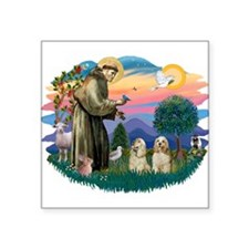 St.Francis #2/ Cockers (2buff Square Sticker 3&quo