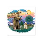 St.Francis #2/ Cocker (buff # Square Sticker 3&quo