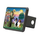 St Francis / Collie Pair Rectangular Hitch Cover