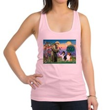 St Francis / Collie Pair Racerback Tank Top