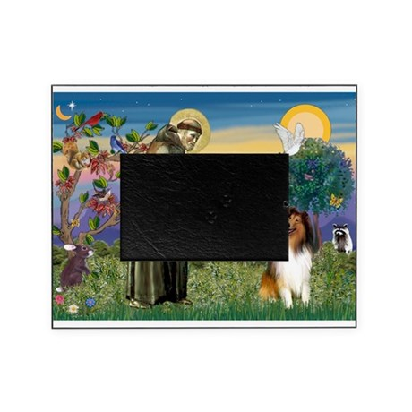 St Francis / Collie Picture Frame