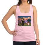 St. Francis & Collie Racerback Tank Top