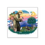 """St.Fran #2/ Dachshund (BT) Square Sticker 3"""""""