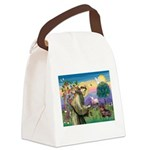 St Francis Doxie Canvas Lunch Bag