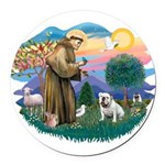 St.Francis #2/ Eng Bull (W #1 Round Car Magnet